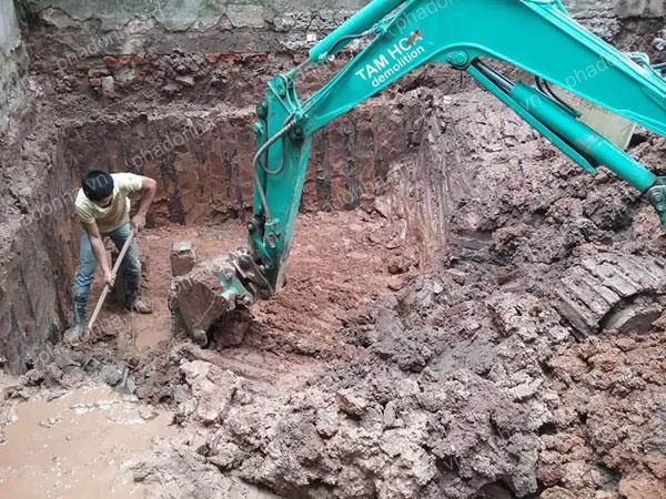 Công ty Duy Tuấn đào móng nhà giá rẻ, chuyên nghiệp tại Hà Nội