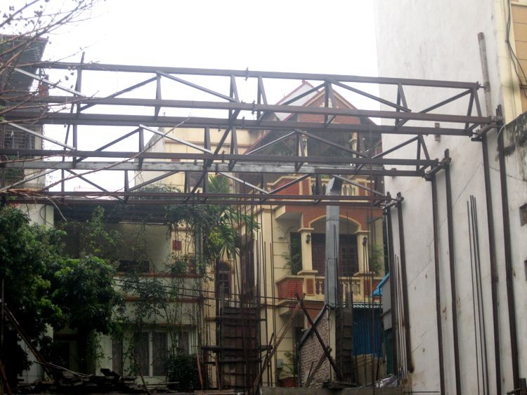 Chống văng công trình, chống văng nhà tại Quận Tây Hồ - Hà Nội