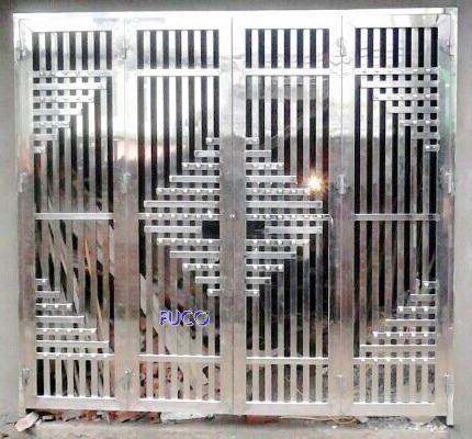 Mẫu cửa inox 4 cánh đang được ưa chuộng - Mẫu 10