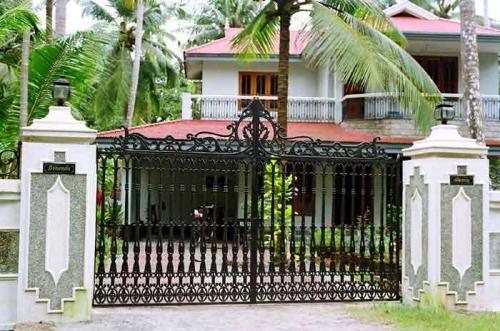 các mẫu cổng inox đẹp cho biệt thự 2 cánh