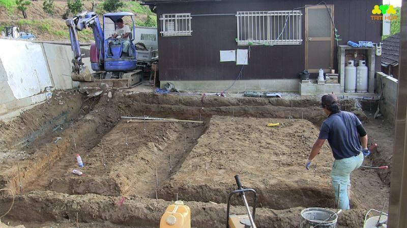 dịch vụ đào móng nhà dân