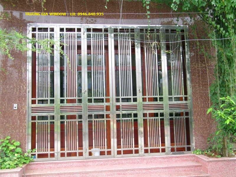 mẫu cổng inox 4 cánh U201