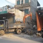 Vận chuyển chất thải đào móng nhà