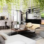 Bài trí không gian xanh trong phòng khách chuẩn nhất