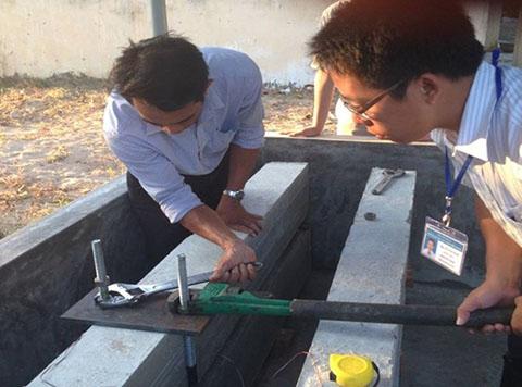 bê tông làm từ cát biển và nước biển